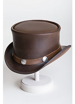 El Dorado Leather Hat with Buffalo Nickels