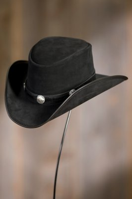 Plainsman Leather Hat with Buffalo Nickels