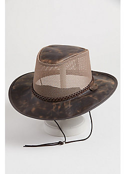 Monterey Bay Breeze Suede Hat with Mesh Crown