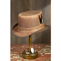 Steampunk Leather Stoker Hat, Chestnut, Size Large (7 1 / 4 - 7 1 / 2) Western & Country
