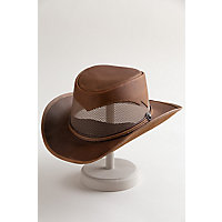 Durango Western Leather Hat, COPPER, Size L (23.25
