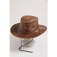 Rancher Crushable Oiled-Leather Cowboy Hat, COPPER, Size LARGE (7.25-–7.375)
