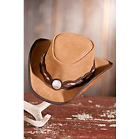 Fort Worth Western Suede Hat, BEIGE/BEIGE, Size L (7 1/4 - 7 3/8)