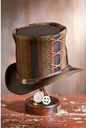 Steampunk Absinthe Leather Top Hat