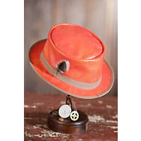 Crushable Steampunk Busker Leather Hat, V Burnt Orange, Size M (7 - 7 1 / 8) Western & Country