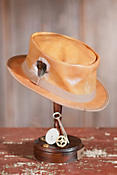 Crushable Steampunk Busker Leather Hat
