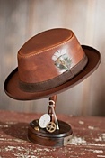 Steampunk Dealer Leather Hat