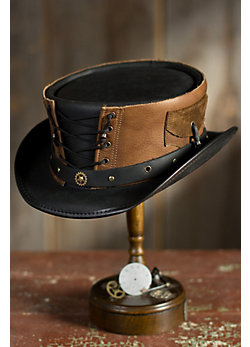Steampunk Corset Leather Hat