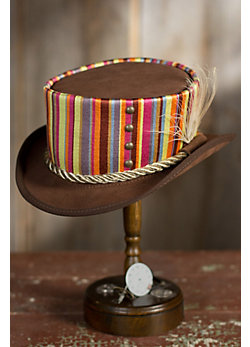 Steampunk Julep Suede Leather Hat