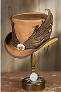 Steampunk Masquerade Leather Top Hat