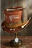 Steampunk Roadkill Leather Top Hat