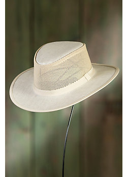 Explorer Canvas and Mesh Fedora Breezer Hat