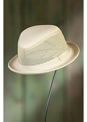 Player Leather and Mesh Fedora Breezer Hat