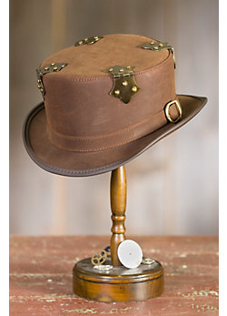 Steampunk Fritz Leather Hat
