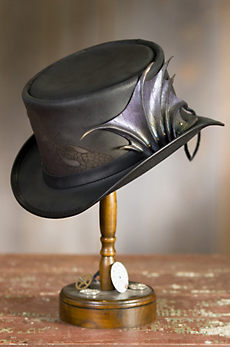Steampunk Draco Leather Top Hat