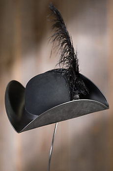 Pirate Felt and Leather Hat with Feather