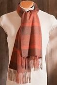 Two-Tone Check Cashmere Scarf