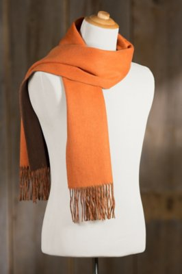 Classic Two-Toned Cashmere-Blend Merino Wool Scarf