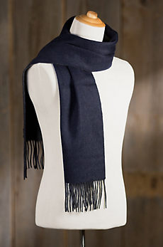 Classic Two-Toned Merino Wool & Cashmerel Scarf