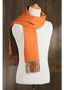 Double Faced Merino Wool Scarf with Cashmere