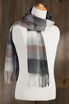 Classic Plaid Merino Wool & Cashmere Scarf