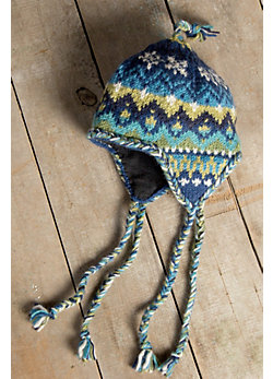 Women's Nordic Earflap Wool Hat