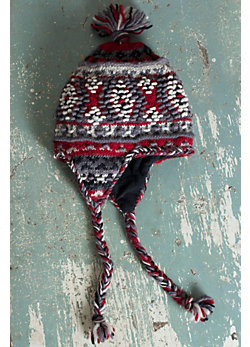 Women's Bella Earflap Handmade Wool Hat