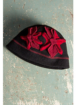 Women's Miranda Wool Hat with Appliqué