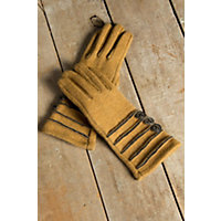 Women's Isabella Boiled Wool Gloves, Gold Western & Country