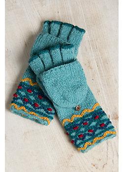 Women's Chanda Handmade Wool Convertible Mittens