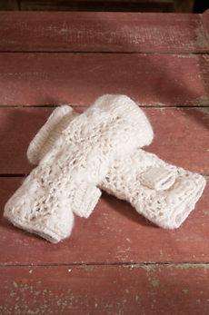 Women's Handmade Flower Crocheted Wool Wristwarmers