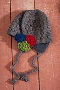 Women's Crocheted Wool Earflap Hat