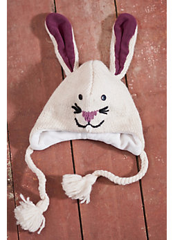Children's Bunny Handmade Wool-Blend Hat