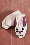 Children's Bunny Handmade Wool Mittens