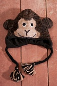 Kids' Cheetah Wool-blend Monkey Hat