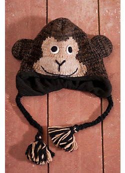 Children's Cheetah Wool-blend Monkey Hat