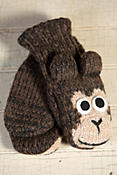 Children's Monkey Handmade Wool Mittens