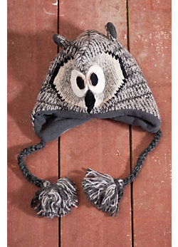 Kids' Owl Handmade Wool-Blend Hat