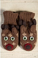 Children's Deer Handmade Wool Mittens