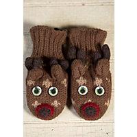 Children'S Deer Handmade Wool Mittens Western & Country