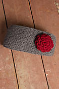 Women's Fleece-Lined Wool Headband with Detachable Rosette