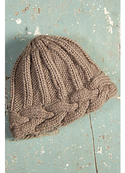 Braided Edge Handmade Wool Beanie Hat
