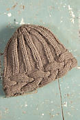 Women's Braided Edge Handmade Wool Beanie Hat