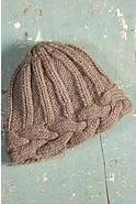 Braided Edge Handmade Wool Beanie Hat