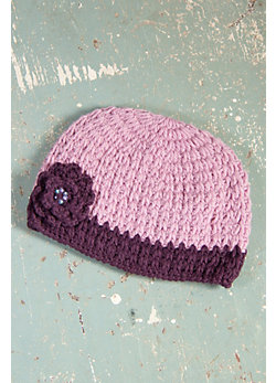 Women's Two-Tone Handmade Wool Beanie Hat