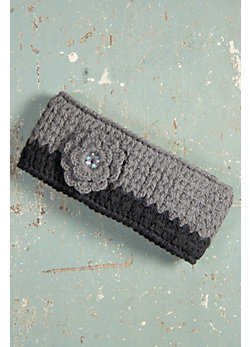 Women's Handmade Crocheted Wool Headband