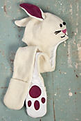 Children's Bunny Handmade Wool-Blend Hat Scarf
