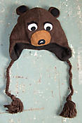 Children's Bear Handmade Wool Hat