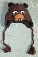 Children's Bear Handmade Wool Hat