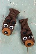 Children's Bear Handmade Wool Mittens